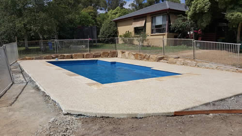 Wet Feet Pools - surround done